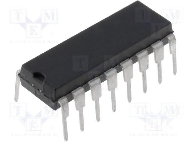 Quadruple differential line driver rs-422a dip16