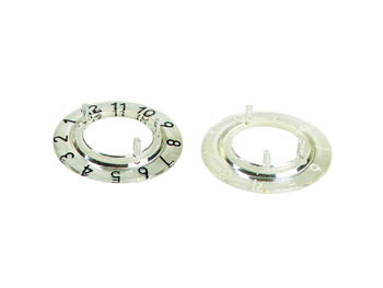 Dial for 21mm button (transparant - white 12 digits)