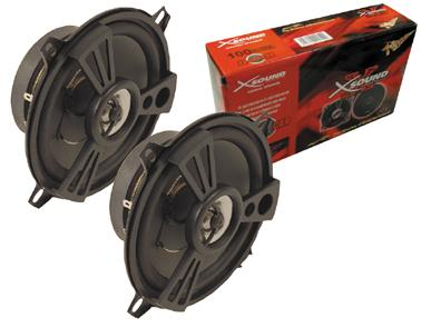 Paire de hp auto 2 voies 130mm 100w 60-2000hz 4ohm