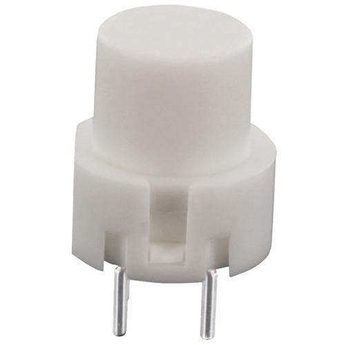 Inter poussoir rond off- (on) pour ci  0.01a / 35vdc d=12mm  blanc