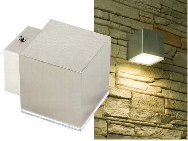 Applique murale interieur / exterieur ip44 a led blanc chaud 3.6w 216 lumens alim : 230v