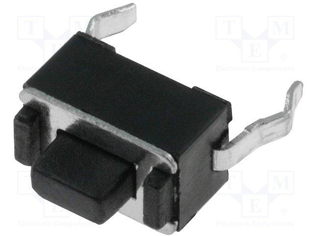 Inter a poussoir pour ci off-(on) 3.5x6mm h= 5mm  0.05a / 12vdc