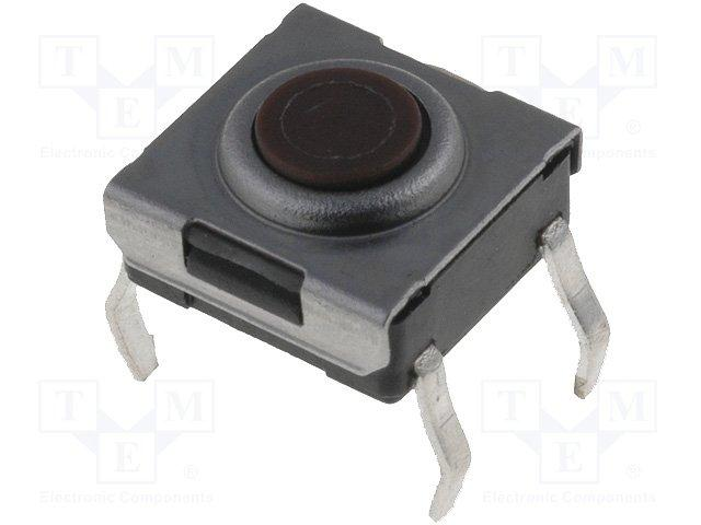 Inter a poussoir pour ci off-(on) 6x6mm h= 3.1mm  0.05a / 12vdc