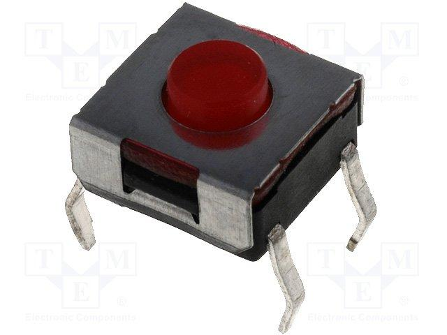 Inter a poussoir pour ci off-(on) 6x6mm h= 3.8mm  0.05a / 12vdc
