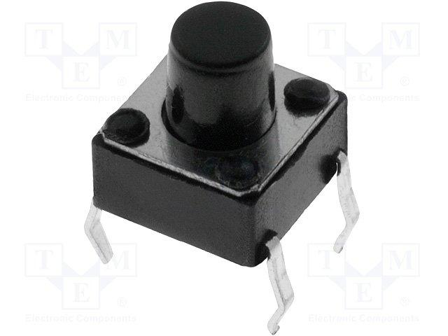 Inter a poussoir pour ci off-(on) 6x6mm h= 7mm  0.05a / 12vdc
