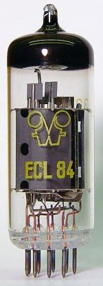 Tube electronique ecl84 / 6dx8 triode pentode 9 pins ( noval )
