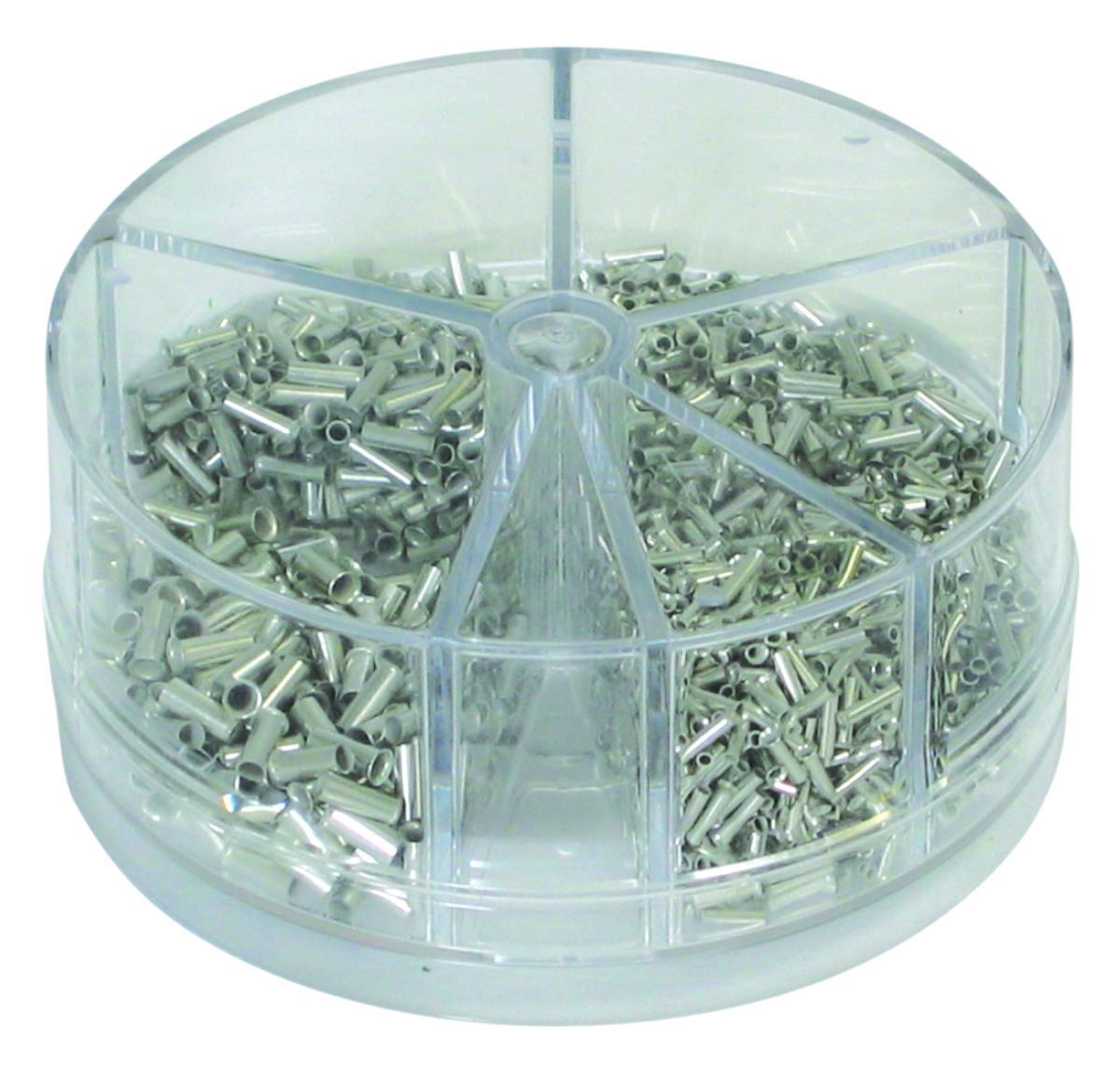 Boite d/'assortiment de 1900 embouts de câblage nus de 0.5 à 2.5 mm²