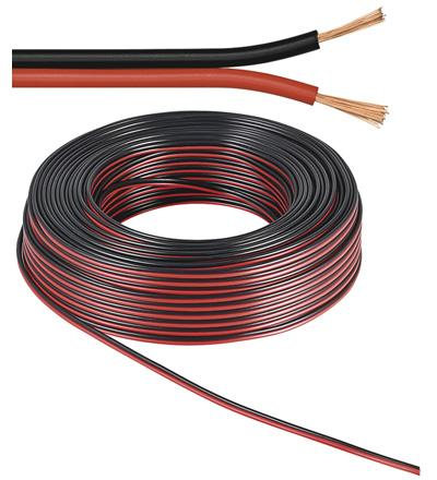 Cable hp scindex rouge+noir 2 x 1.5mm2; l 25m