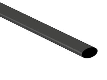 Gaine d'isolation thermorétractable en polyoléfine couleur noire Tubes d'une longuer de 6m