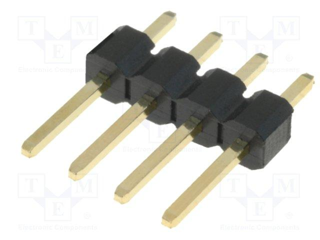 Connecteur male/male ci-droit - 4 contacts pas 2.54mm h=8.3mm lot de 5