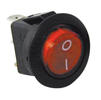 EsportsMJJ Commutateur /À Bascule 16A 250V 3 Positions 6 Broches Interrupteur /À Bascule /Étanche avec Lampe Bleu