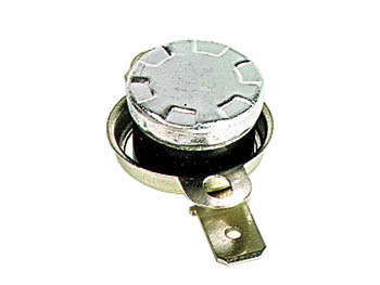 Inter therm. 6a 240v d=15mm h=10mm  100 c a ouverture (nf) cosses