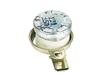 Inter therm. 6a 240v d=15mm h=10mm  120 c a ouverture (nf) cosses