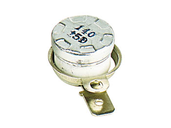 Inter therm. 6a 240v  d=15mm h=10mm 140 c a ouverture (nf) cosses