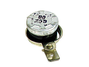 Inter therm. 6a 240v d=15mm h=10mm  80 c a ouverture (nf) cosses