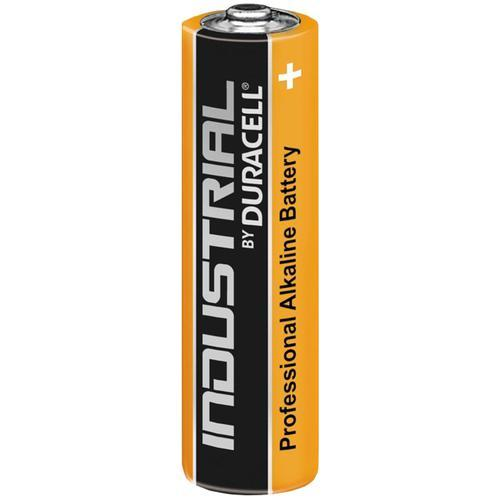 Piles cylindrique alcaline 1.5v aa (r06) high energy duracell pack industriel 10 x pièces