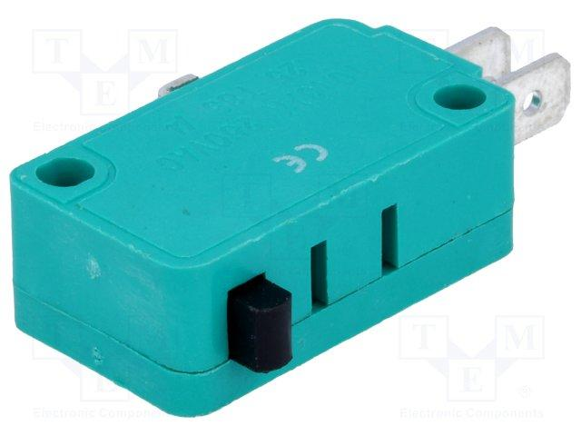 Micro switch nu 1 rt 10a 250v 28 x 16 x 10mm