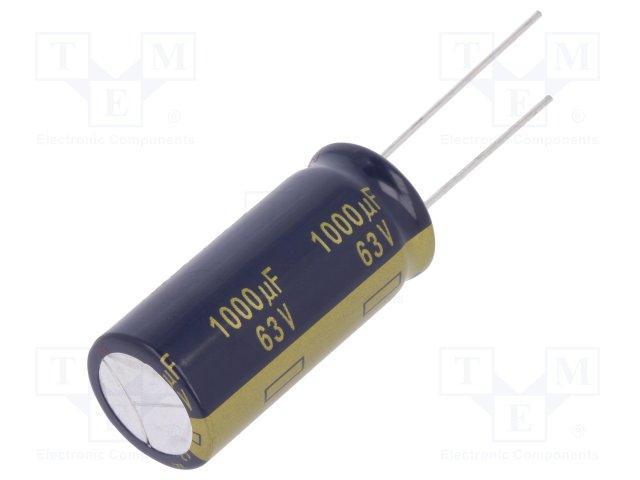 Condensateur électrolytique axial 63V 100uF 3 Pack