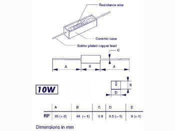 5 pcs 10W 120 ohms 5/% Résistance bobinées Ciment Céramique
