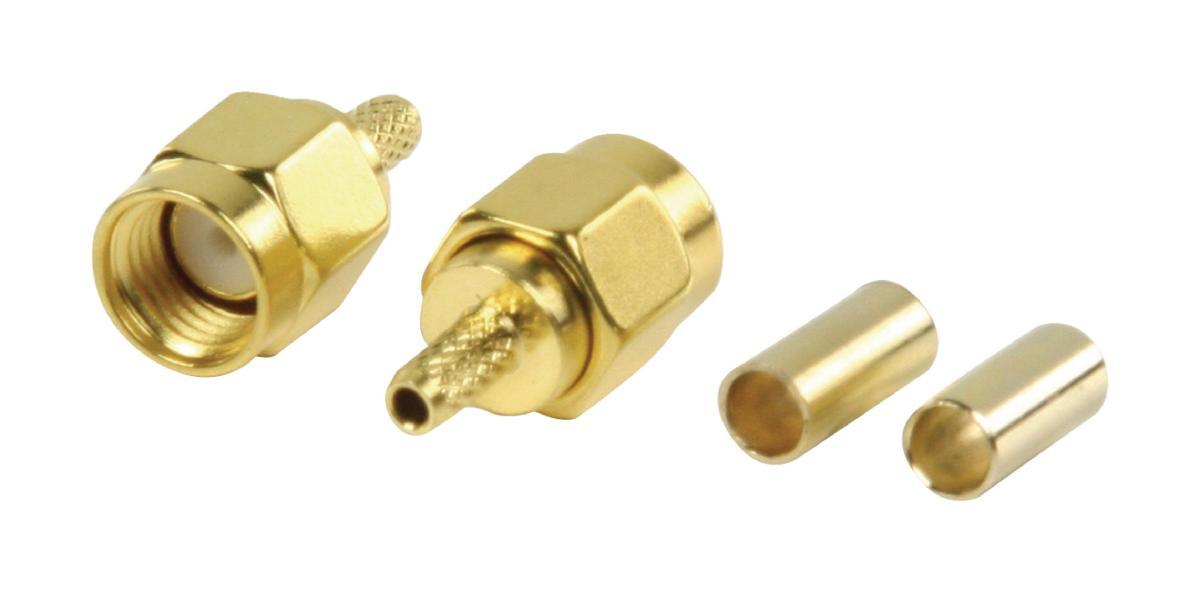 Sma connecteur 50 ohms 90 ° sertir pour câble rg174//u