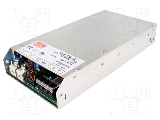Alimentation a decoupage - 750w - 12vcc - chassis ferme 250 x 127 x 41mm