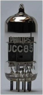Tube electronique ucc85 / 26aq8 / 10ld14 double triode vhf 9 pins ( noval )