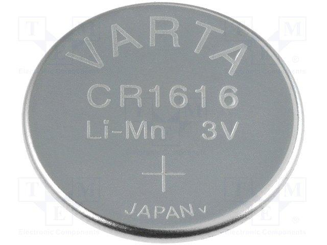 Pile bouton lithium 3.0v 280ma (24.5x3.0mm) varta emballage industriel 20 x pieces