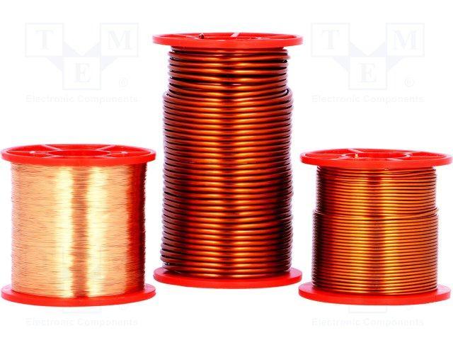 Orange 100/m sur bobine Fil de cuivre Vernis Diam/ètre 0,15/mm
